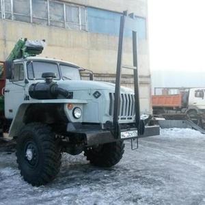 Лесовоз Урал 43204 с манипулятором
